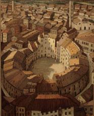 円形の広場 ( 油彩・ F100 )