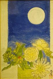 月  ( 日本画 ・小品 )
