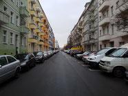 Blick in eine Straße, Straßenbreite