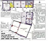 Plan de l'extension et du réaménagement de l'existant - Rez de chaussée