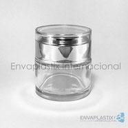 Pomadera de vidrio, tarro de vidrio para cremas