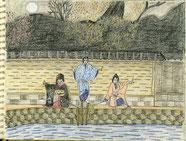 ①20/8歌舞伎:三人吉三(大川端の場)節分の晩にヨタカの百両を奪って川に突き落としたのを見られたお嬢吉三が金を狙われ仲裁が入る