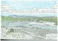 ②25/6マノスク(仏)デュランス川 南仏:プロヴァンスには明るい太陽がありますが、川原を見ると小石はあっても草の茂みが見えません。