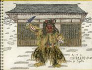 ③21/10祭り秋田男鹿なまはげ:日本古来の代表的な冬の祭り なまはげの装束は農村にあるもので出来ている