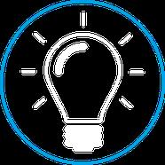 Stärke Problemlöser Icon Glühbirne