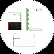 Grafik/Pintdesign/Geschäftspapiere/Visitenkarte