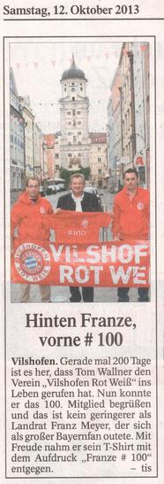Vilshofener Anzeiger   12. Oktober 2013