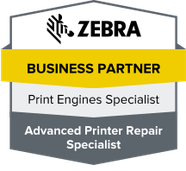 Zebra, Zebra Business Partner, Zebra Print Engine Specialist, Zebra Advanced Printer Repair Specialist, Printer Repair Specialist