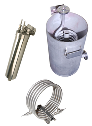 Sample coolers, helical, flanged open type, tube-in-tube, Herpi, Sentry coolers supplier