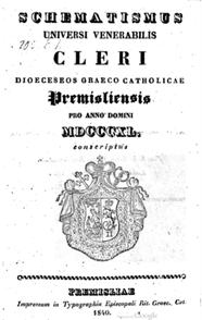 Schematismus Premisliensis 1840 lemko.pl