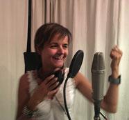 Nathalie Weider im Tonstudio