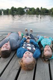Marcus, Catrin und Lina erkundeten Hamburg.