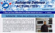 Solidarité Défense Actualités n°22 - septembre 2016