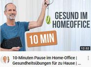 10-Minuten Pause im Home-Office | Gesundheitsübungen für zu Hause | YOGA Alternative