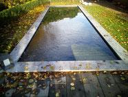 Teichbau mit Stufen in Nordhorn Grafschaft Bentheim Koiteich