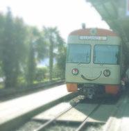 die Bahn in Lugano blinzelt mir zu