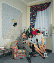 Wohnen, Wohnzimmer, renovieren, Wandbeschichtung