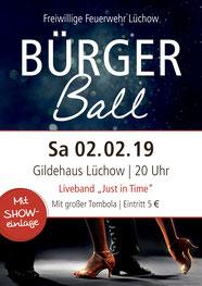 Bürgerball im Gildehaus 2019 - Freiwillige Feuerwehr Lüchow