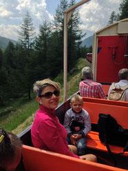 Auf der Berninabahn im Panoramawagen