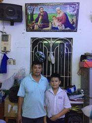 Nguyễn Thanh Hiệu mit seinem Vater