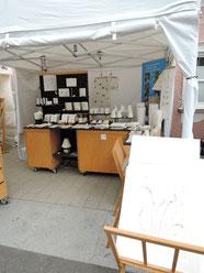 PAPIER-art ART-papier, Frauenkunsthandwerksmarkt Ottensheim, Produktpräsentation, handgefertigte Papierarbeiten, Harald und Michaela Metzler. Österreich