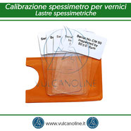 Lastre spessimetriche per la calibrazione di spessimetri per vernici