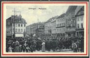 Markt mit Militärkapelle 1916. Städtisches Museum Göttingen