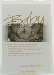 Karte zur Geburt Euer Baby