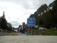 Geschafft auf dem Vrsic Pass