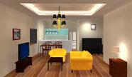 DIALux 3DCGで内装、家具、照明、明るさ感