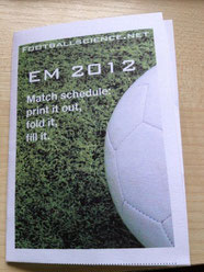 footballscience UEFA EURO 2012 pocket game schedule