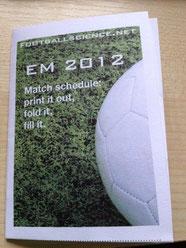 footballscience UEFA EURO 2012 pocket game schedule