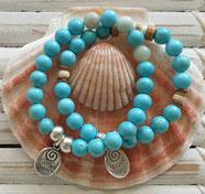 turquoise calm & clarity  energy bracelets handmade in Noosa Australia