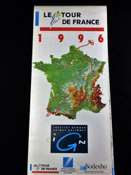 CARTE DU TOUR DE FRANCE 1996   Cartes IGN