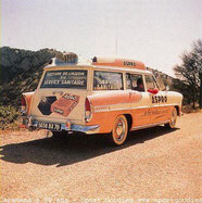SIMCA MARLY   SERVICE SANITAIRE      Tour de France 1957