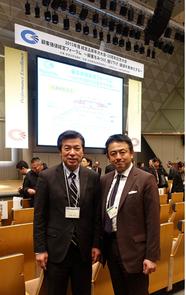 西社長と日本経営品質賞の受賞式会場にて