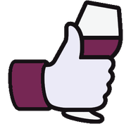 pouce Facebook verre de vin