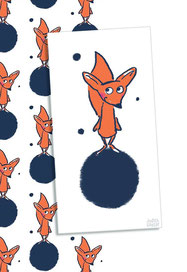 Fuchs im Weltall bei Redbubble – Illustration Judith Ganter - Illustriertes Kopfkino für Alltagsoptimisten