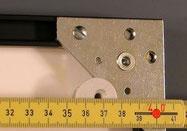 Bildaufhänger Metall auf Alu-Wechselrahmen