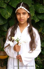 tocado de flores encrochet