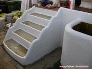 Treppe Griechenland Beton verschönert