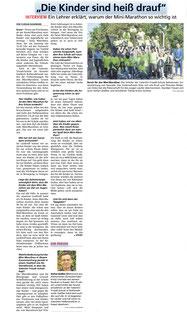 Die HNA berichtet einige Tage zuvor von dem Ereignis. Hier das Interview vom 12.09.19:  (Vergrößerung des Bildes per Klick!)