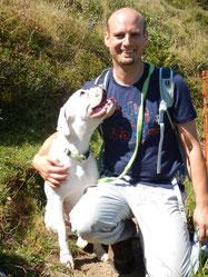 Freivogel Oliver mit Trüffelhund Boxer Jenny