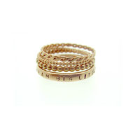 Emma Hedley rose gold stacking rings