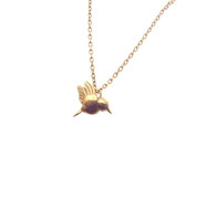 Emma Hedley Rose gold hummingbird necklace