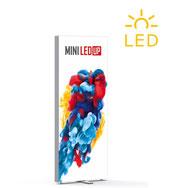 Transportable LED-Leuchtwand mit Textilgrafik PIXLIP GO