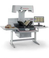 Buchscansystem mit V-Buchwippe