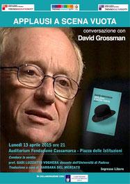 Con David Grossman a Treviso, 13.04.15