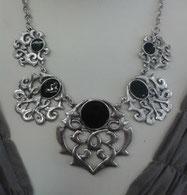 nostalgisches collier mit onyx