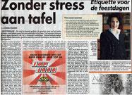Artikel Telegraaf 'Zonder stress aan tafel'
